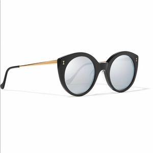 Illesteva Palm Springs Black Mirrored Sunglasses